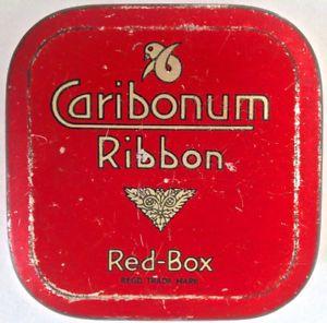 Antiquité Collection Ancienne boîte à ruban de dactylo Caribonum