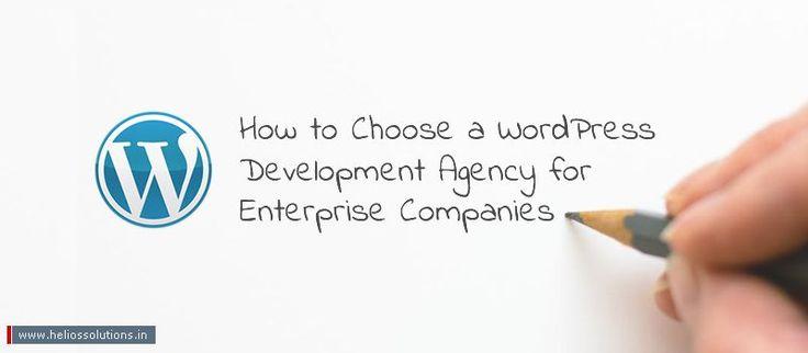 How To Choose A WordPress Development Agency For Enterprise Companies? - https://blog.heliossolutions.in/cms/wordpress/choose-wordpress-development-agency-enterprise-companies/