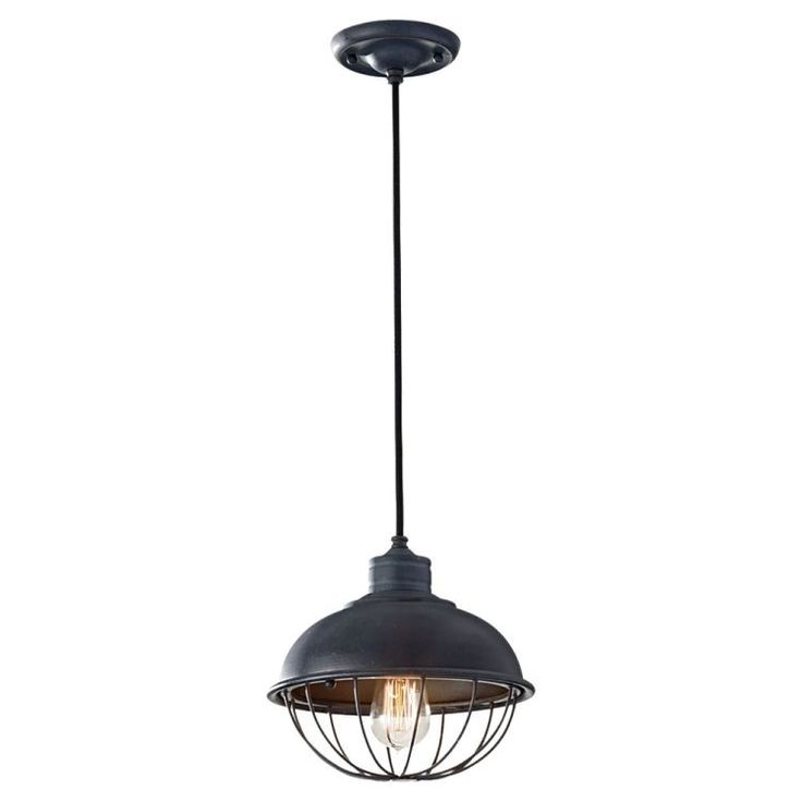 The feiss lighting urban renewal mini pendant in antique forged iron provides abundant light to your home while adding style and interest