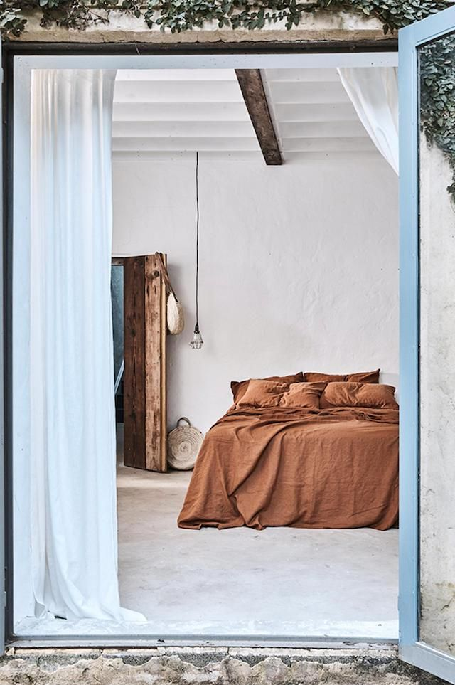 Earth Toned Bedroom | FrenchByDesign