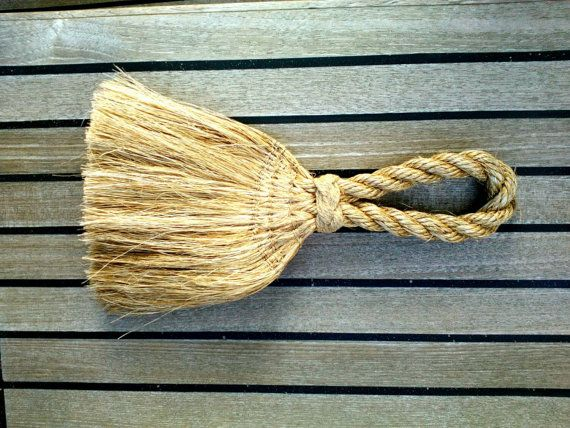 This little whisk was inspired by an artefact in a Maritime  Museum in Brittany. https://www.etsy.com/uk/listing/262347189/nautical-whisk-broom-sailors-deck-brush