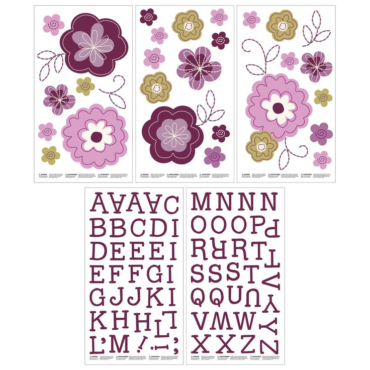 Crown Crafts NoJo Pretty In Wall Decals