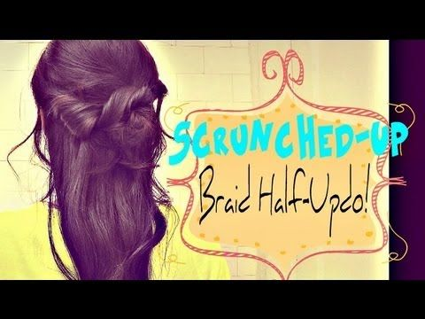 ★5 MIN | HOW TO: SCRUNCHED-UP BRAID HALF-UP HALF-DOWN UPDO HAIRSTYLE FOR MEDIUM LONG HAIR TUTORIAL    #hairstyles #hair #hairtutorial #updos #updo #hairstyle #braid #longhair #mediumhair #wedding #bridal #curls #hairtutorial #hairdos #peinado #coiffure #bridesmaid #hairdo #prom #homecoming #formal #party #Braid #plait#halfuphalfdown #halfupdo