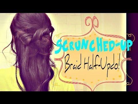 ★5 MIN   HOW TO: SCRUNCHED-UP BRAID HALF-UP HALF-DOWN UPDO HAIRSTYLE FOR MEDIUM LONG HAIR TUTORIAL    #hairstyles #hair #hairtutorial #updos #updo #hairstyle #braid #longhair #mediumhair #wedding #bridal #curls #hairtutorial #hairdos #peinado #coiffure #bridesmaid #hairdo #prom #homecoming #formal #party #Braid #plait#halfuphalfdown #halfupdo