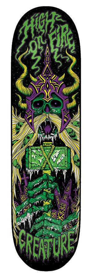Creature Skateboards - HIGH ON FIRE! | skate graphics ...
