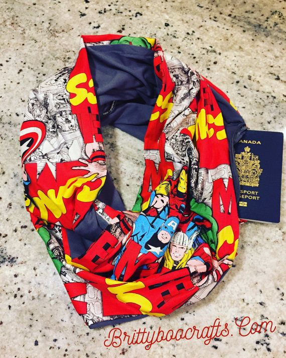 Marvel Infinity Scarf with Hidden Pocket for travel!