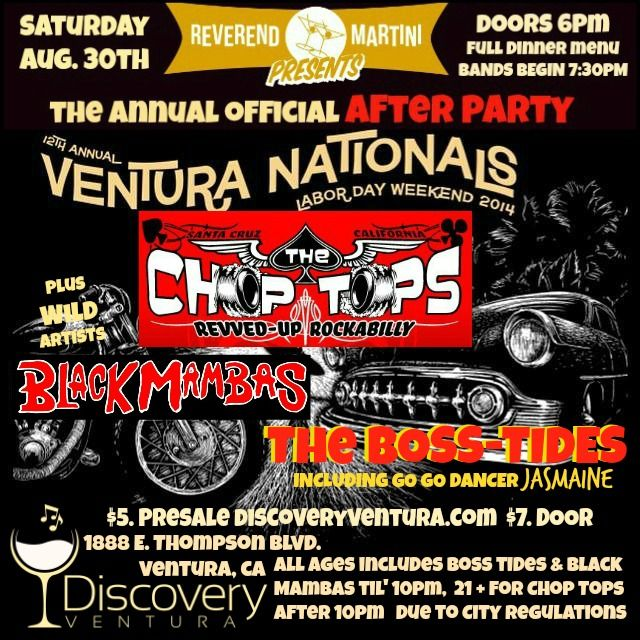 Ventura nationals official after party the chop tops black mambas