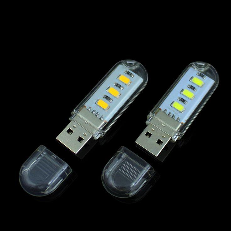 Tanbaby USB LED Ánh Sáng Đèn LED SMD 3 5730 Đèn USB trắng Cho Đọc Sách Cắm Trại USB Gadget cho Máy Tính Xách Tay Điện Thoại Di Động Chiếu Sáng
