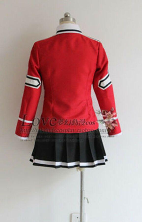 New Anime FAIRY TAIL Wendy Marvell Uniform Cosplay Costume dress custom made