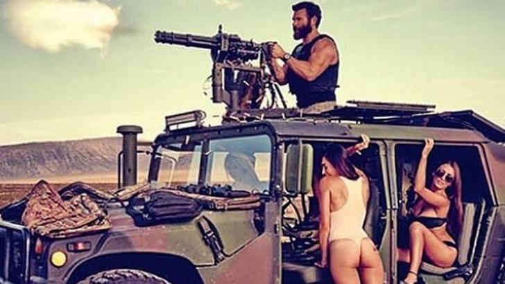 Dan Bilzerian Takes Bikini Girls at a Desert Shooting Spree Driving a Humvee http://www.autoevolution.com/news/dan-bilzerian-takes-bikini-girls-at-a-desert-shooting-spree-driving-a-humvee-85326.html