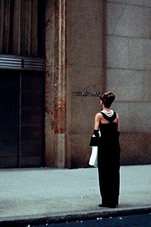 Audrey Hepburn wearing Givenchy. Tiffany's NYC.