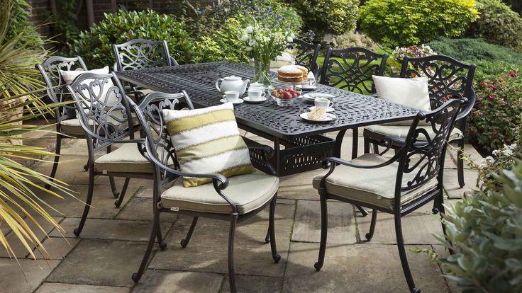 capri rectangular set - Capri - Cast Aluminium Garden Furniture  - Hartman Outdoor Furniture Products UK