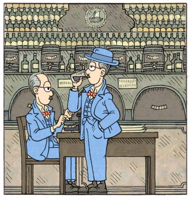 Ilustração de Fernando Pessoa em sua nova biografia em história em quadrinhos | Crédito: Miguel Moreira