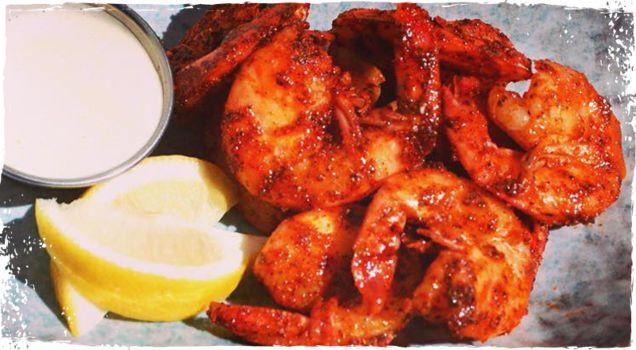 BBQ Peel & Eat Shrimp with Lemon Mayo - A Chef's Life