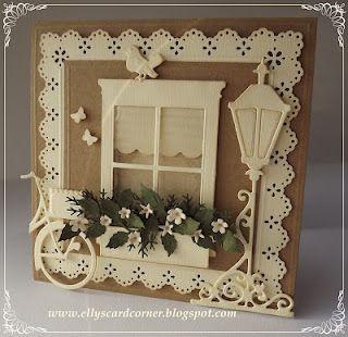 Madison Window die from Memory Box -  window shade.