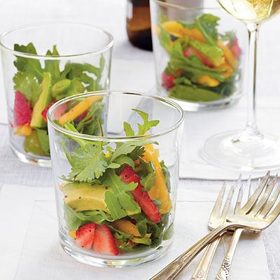 Serve this fruit salad (mango, cilantro and avocado) in short cocktail glasses. Really pretty!Summer Side Dishes, Summer Fruits, Southern Living, Myrecipes Com, Fruit Salads, Poppies Seeds Dresses, Fruit Salad Recipes, Summer Salad, Summer Fruit Salad