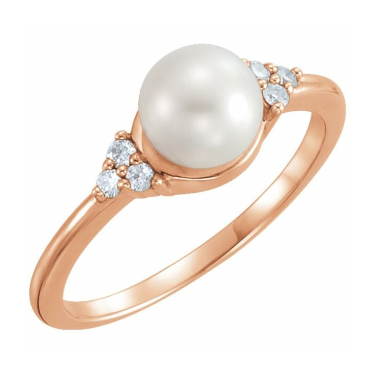 Fine Jewelry Cultured Freshwater Pink Pearl 14K Rose Gold Beaded Ring Ee75XRT9