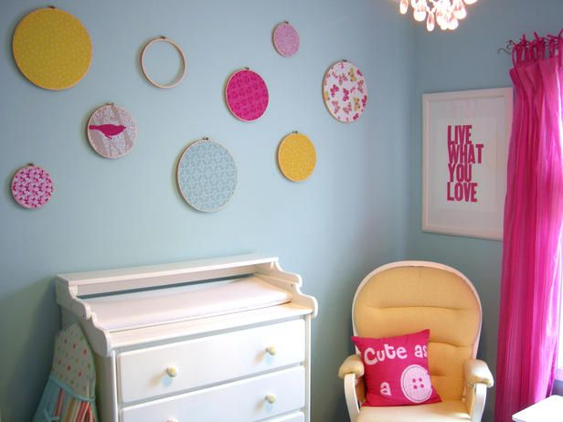 sweet idea! buy some of these hoops at garage sales and voila!