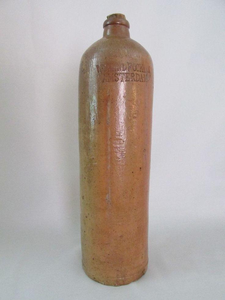Vintage Brown 3 Liter Wynand Fockink Amsterdam Gin Bottle