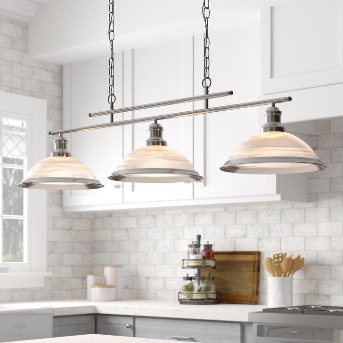 Beverley 3 Light Kitchen Island Linear Pendant Kitchen Lighting Kitchen Island Pendants Buy Pendant Lights