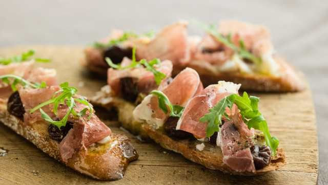 Curtis Stone's Prosciutto Crostini with Dried Cherries and Goat ...