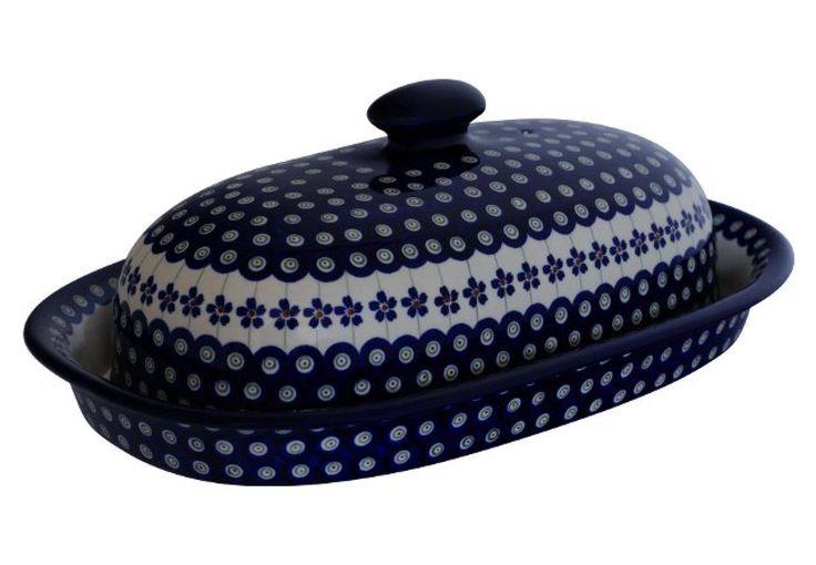 Bunzlauer Keramik Brotkasten, 39.5 x 25.5 x 13.0 cm Dekor 166a