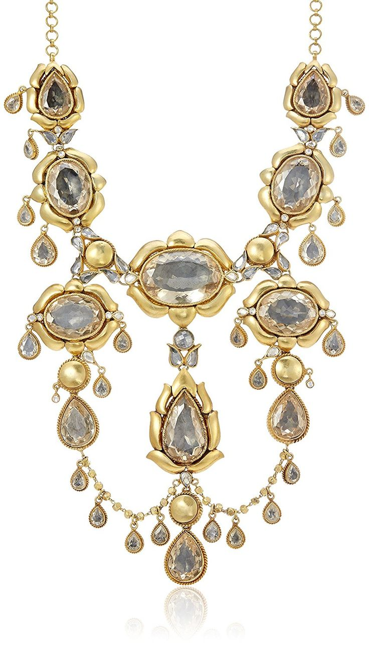 Tarun Tahiliani Lifestyle Jewellery Necklace for Women (Pale Yellow) (GN0006)