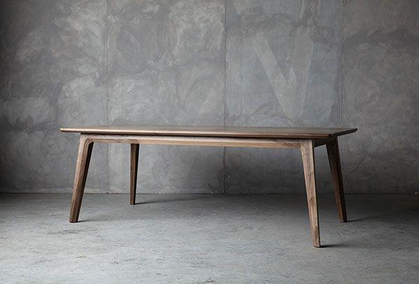 Walnut table design by Luis Luna for Namuh