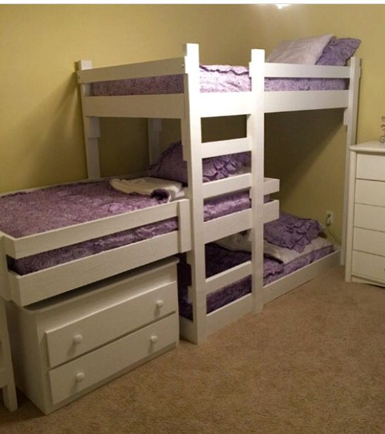 25 best ideas about triple bunk beds on pinterest for Triple bunk bed