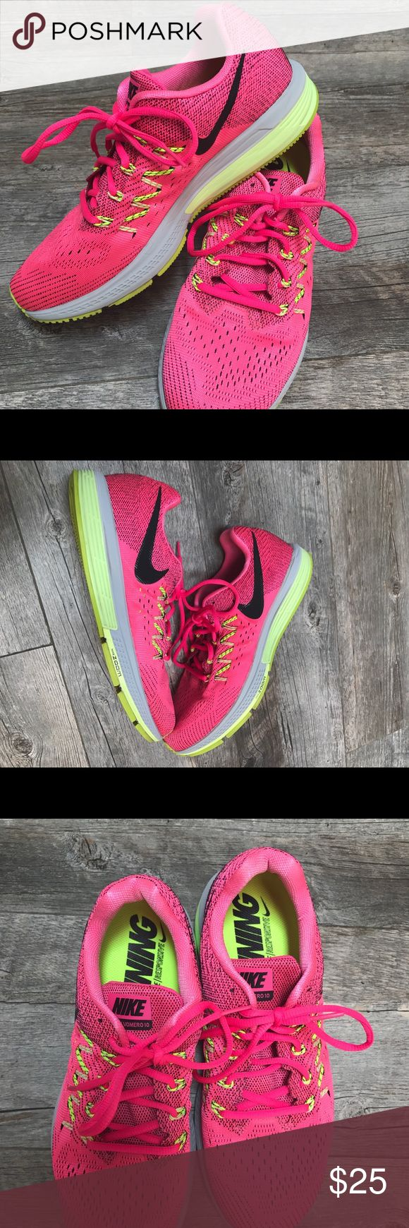 Nike Vomero running shoes. Great condition! Women's Nike Vomero 10. This is one of Nike's most cushioned running shoe. Great for long distance runs! Only minor wear on the ball of the bottom of the shoe. Unworn insoles. Nike Shoes Sneakers