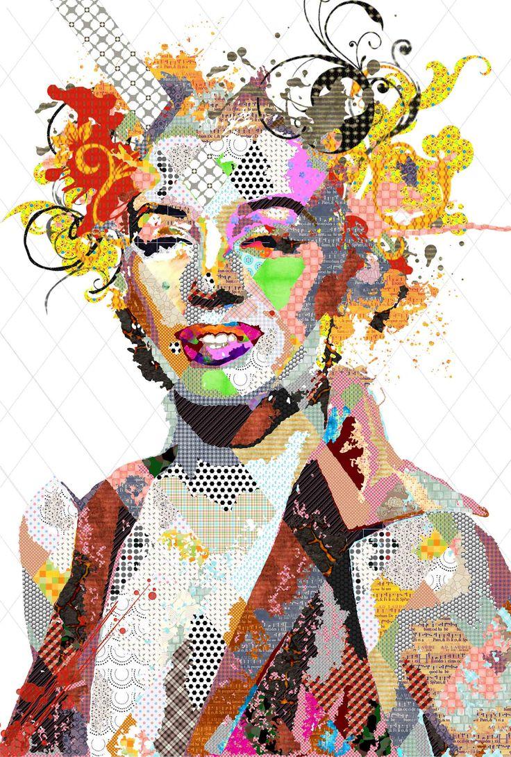 Pınar Du Pre ''Marilyncik'' 190x140cm /Mixed media on canvas / 2014