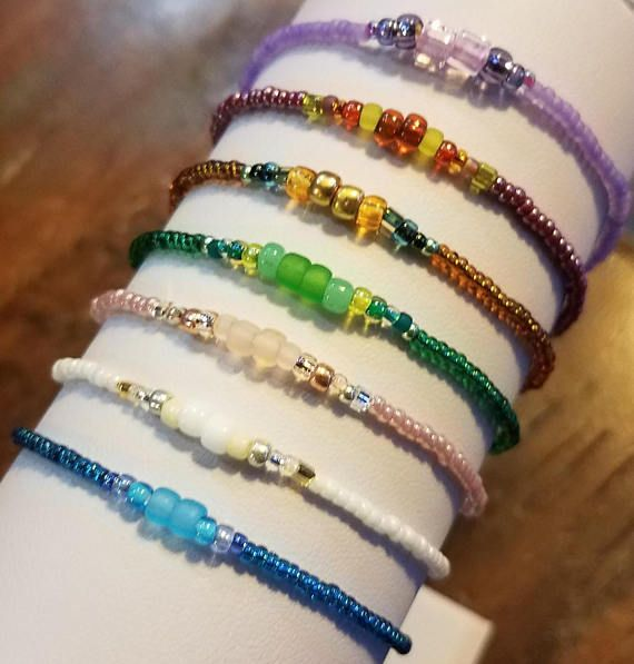 best sellers stackable bracelets boho chic jewelry sister birthday gift for her minimalist jewelry delicate beaded bracelet for women