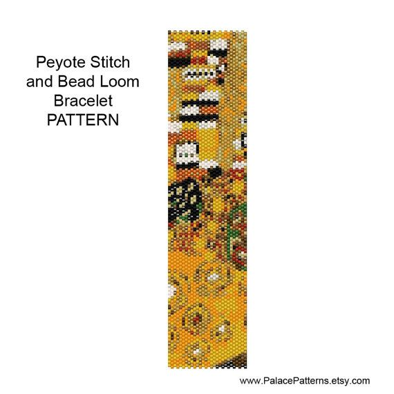 Beadweaving Bracelet Pattern Peyote and Loom от PalacePatterns