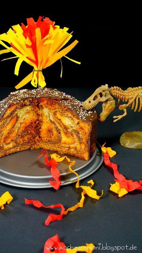 Wo bitte geht's zum nächsten Vulkan? Fanta-Lava-Kuchen und das Kinderherz macht *HÜPF* von KochzereMoni