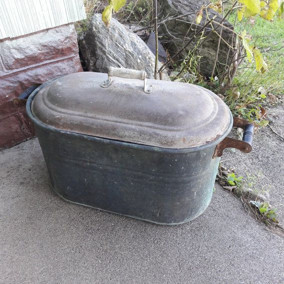 Old Antique Primitive Large Galvanized Boiler From by oldstuffbrad