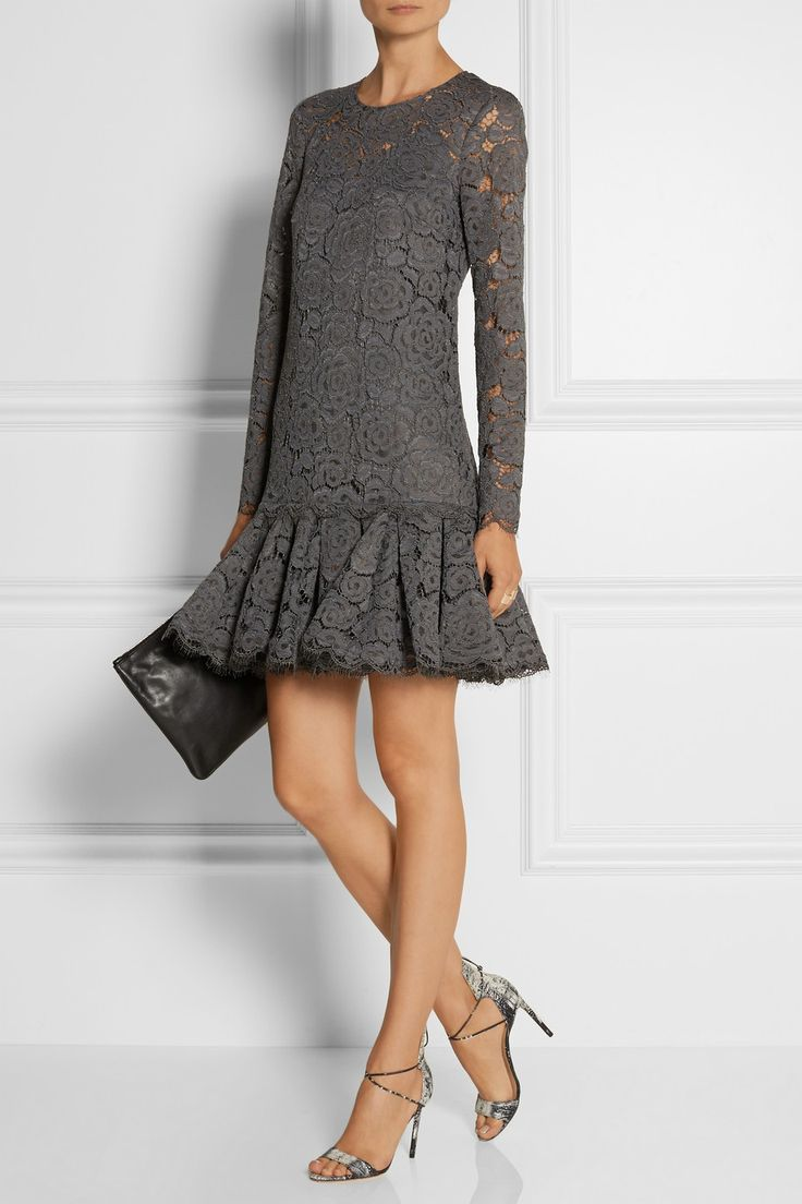 DKNY | Floral-lace dress | NET-A-PORTER.COM