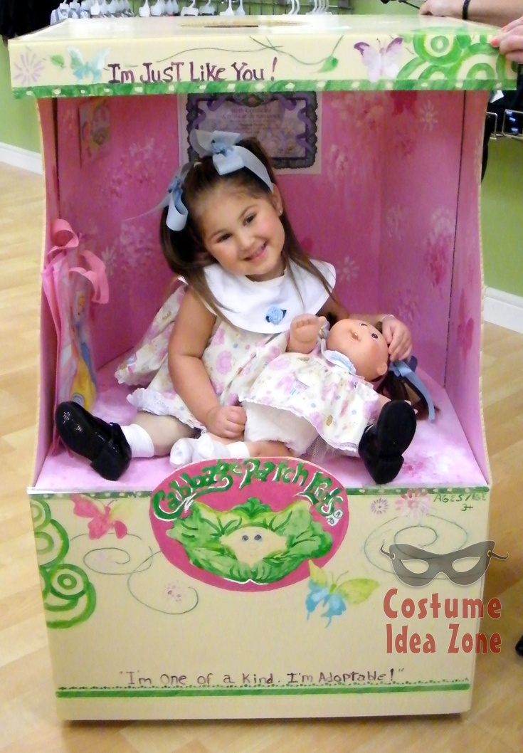 cabbage patch kid in the box adorable homemade halloween costume visit the costume idea