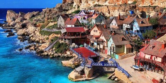 7 parques temáticos de Europa para disfrutar como auténticos enanos (foto: Popeye Village Park en Malta)