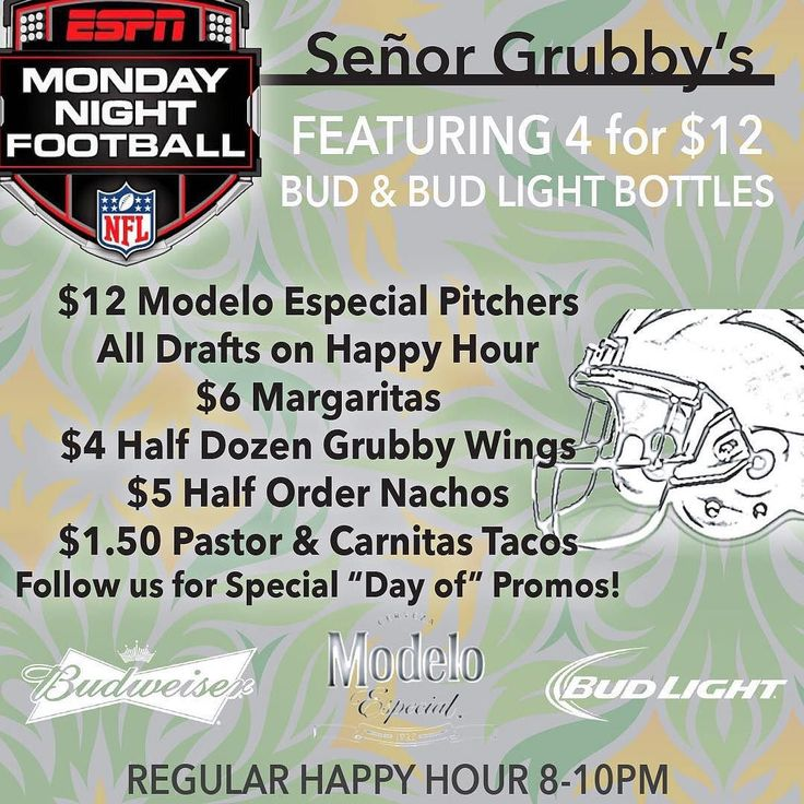 KEEP THE GLASS NIGHT TONIGHT!! For MNF Kickoff we are giving away our new Señor Grubby's logo glasses with any draft beer purchase!  LIMITED one glass per person.  PLUS try our new Smoked Wings only available during NFL games. #NFL #MNF #Football #SenorGrubbys #Tacos #Beer #CraftBeer #Carlsbad #CarlsbadCA #Oceanside #Vista #Encinitas #Free #LiveLifeSpicy The lovely @careylyn will be your beautiful bar tender for the evening!!  by senorgrubbys