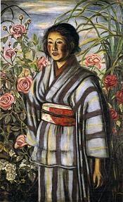 バラと少女by 村山槐多 1917