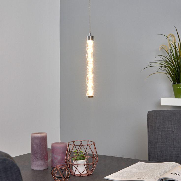 Jednopunktowa lampa wisząca LED Rike ze szkła 9639012
