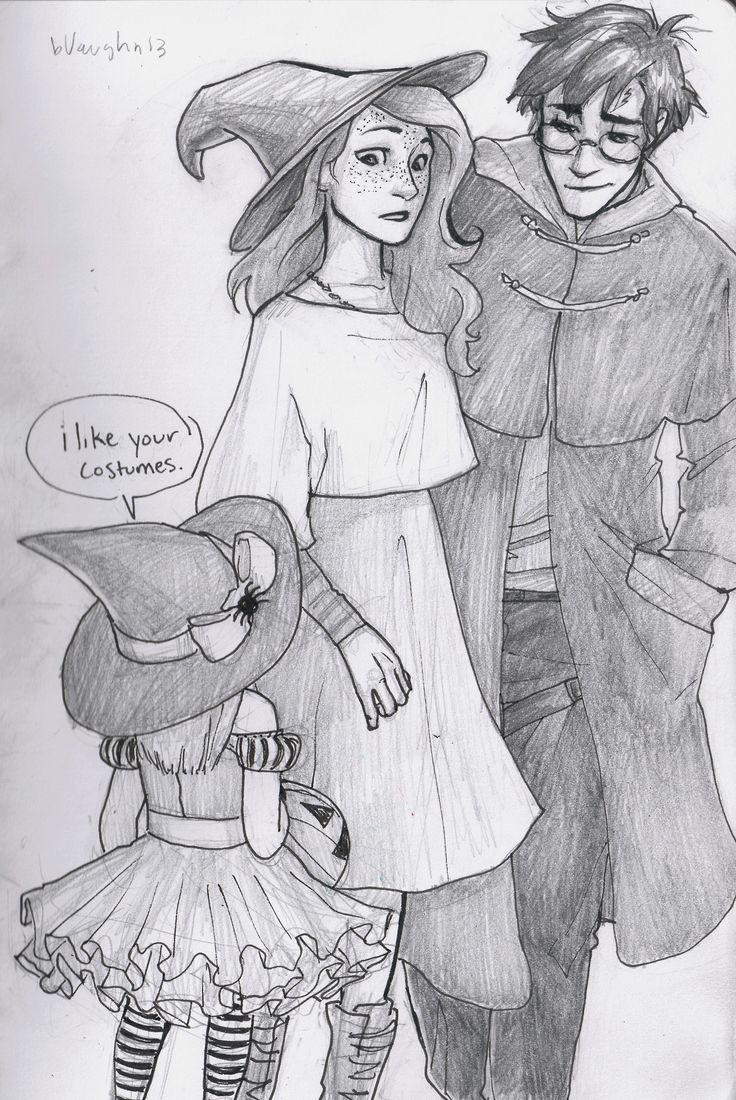spookyburdge: harry and ginny unwittingly find themselves in muggle london a little too close to halloween. THIS IS ADORABLE
