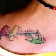 bob marley-three little birds in jamaican colors tattoo - Google Search