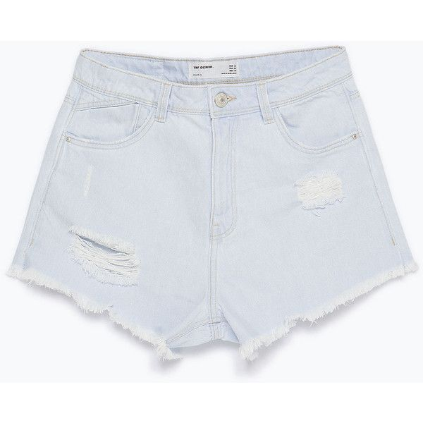 Zara Denim Shorts (404.250 IDR) ❤ liked on Polyvore