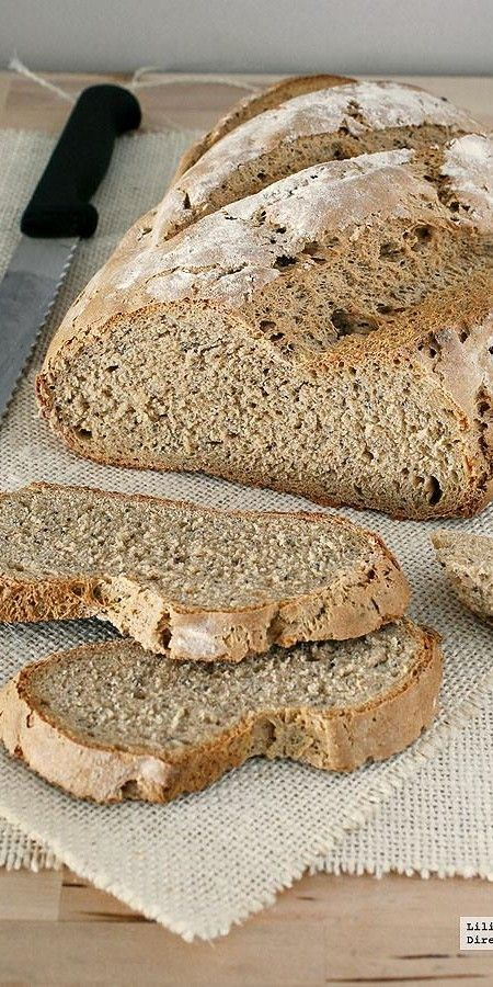 Pan de centeno fácil. Receta de panadería. directoalpaladar