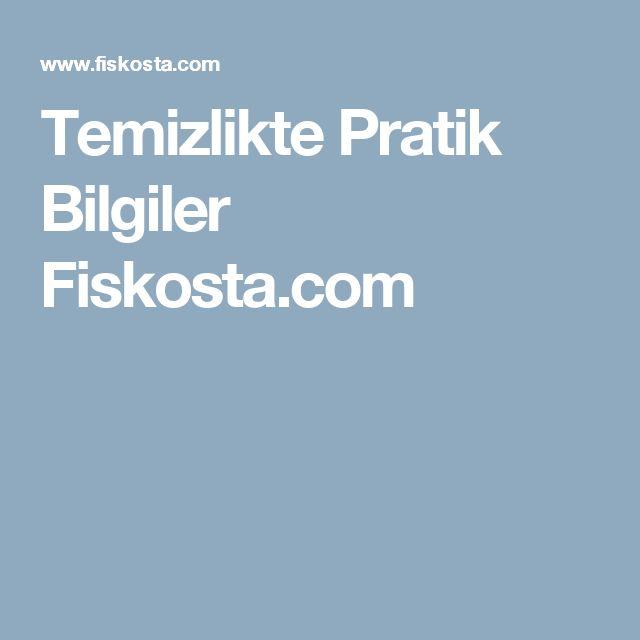 Temizlikte Pratik Bilgiler Fiskosta.com