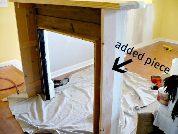 idea for making mantel independent piece of 'furniture'