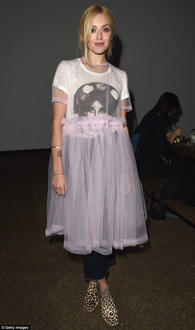 Fashion week chic? Fearne Cotton, 34, changed into an unusual tutu and T-shirt…