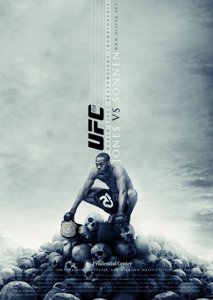 Fan made UFC poster Jon Jones