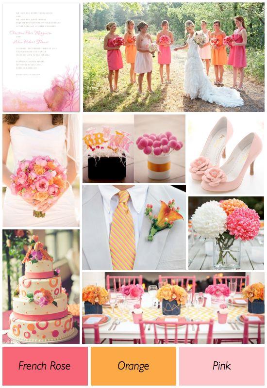 Pink and Orange Wedding theme